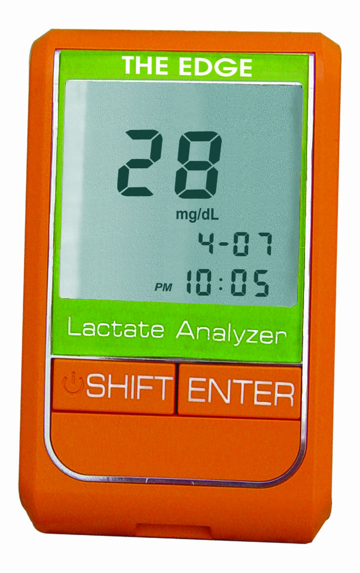 The EDGE Lactate Rapid Test Meter